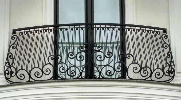 Iron balconies