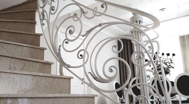 Interior and exterior railings
