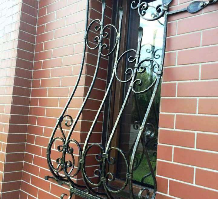 Iron grilles for windows and doors